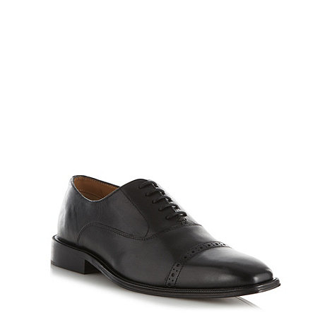 Hammond & Co. by Patrick Grant - Designer black leather punched toe cap shoes