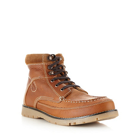 Chatham Marine - Tan leather apron borg lined boots