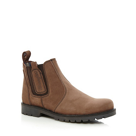 Wrangler - Chocolate suede leather chelsea boots