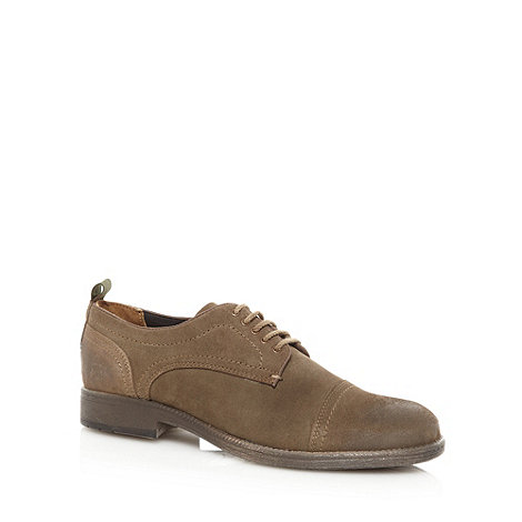 Wrangler - Khaki suede leather stitched toe cap shoes