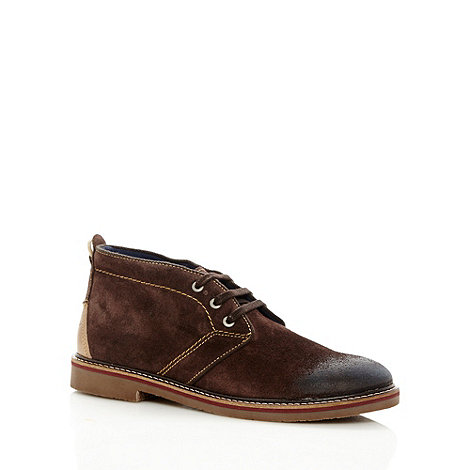 Wrangler - Chocolate suede leather desert boots