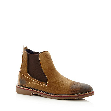 Wrangler - Beige suede leather chelsea boots