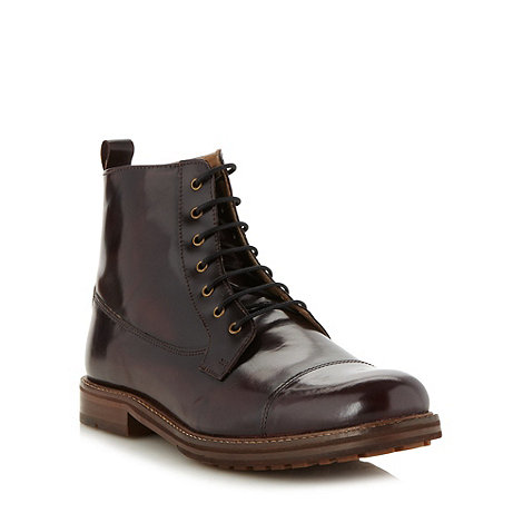 Ben Sherman - Dark red leather boots