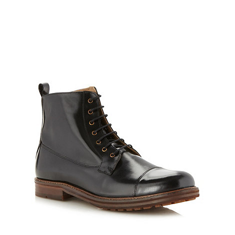 Ben Sherman - Black leather boots