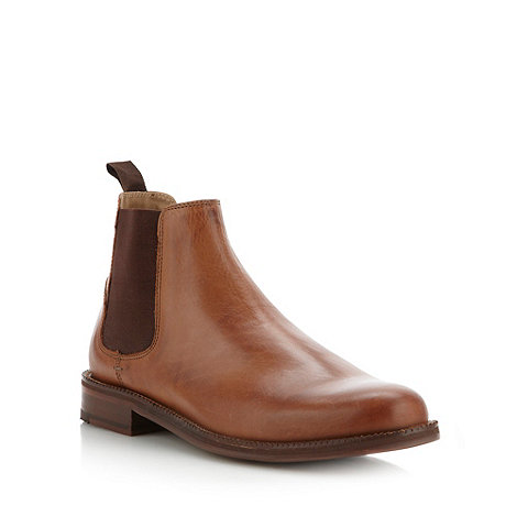Ben Sherman - Tan leather chelsea boots