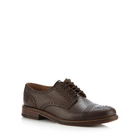 Ben Sherman - Brown leather lace up shoes