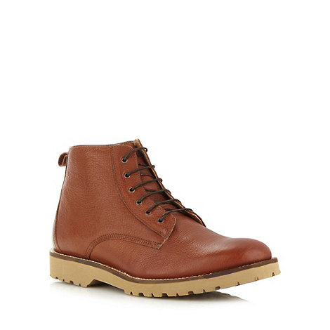 Ben Sherman - Tan grained leather boots