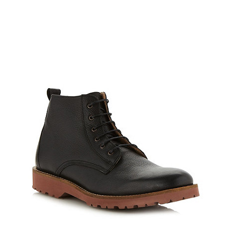 Ben Sherman - Black grained leather boots
