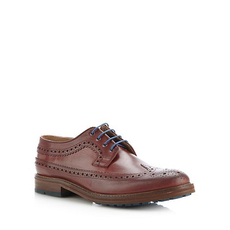 Ben Sherman - Plum leather brogues