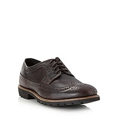 Rockport - Wide fit chocolate leather brogues