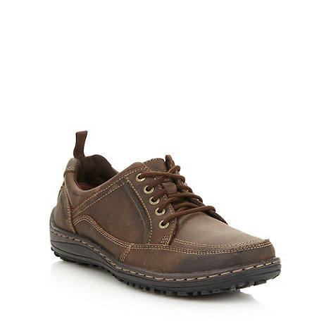Hush Puppies - Brown padded leather lace up shoes