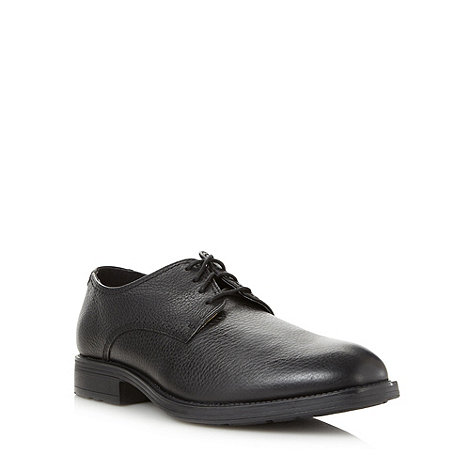 Hush Puppies - Black grained leather shoes