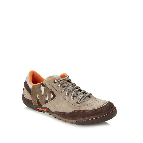 Merrell - Beige suede lace up trainers