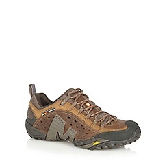 Merrell - Brown suede punched hole shoes