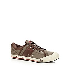 Merrell - Brown canvas leather trainers
