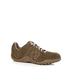 Merrell - Green leather perforated shoes
