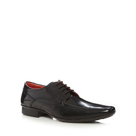 Jeff Banks - Designer black leather pointed toe brogues