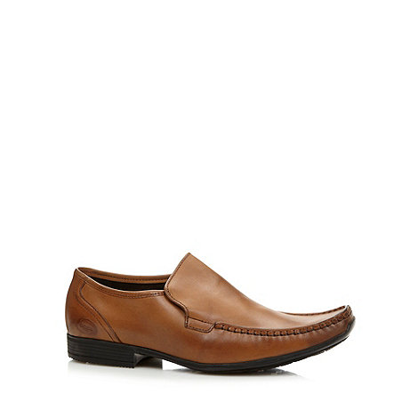 Base London - Tan leather square apron toe shoes