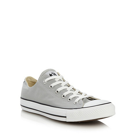 Converse - Grey canvas lo-top trainers
