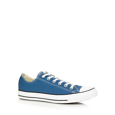 Converse - Blue canvas lo-top trainers