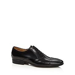 Jeff Banks - Designer black leather toe cap shoes