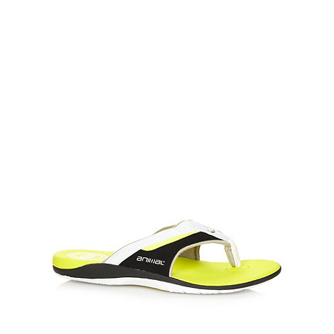 Animal - Bright green padded strap flip flops