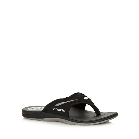 Animal - Black padded strap flip flops