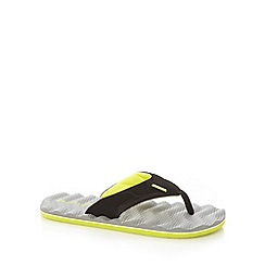Animal - Grey mesh rippled sole flip flops