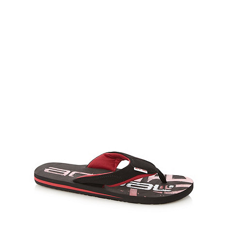 Animal - Black logo flip flops