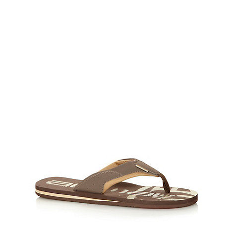 Animal - Brown fabric strap flip flops
