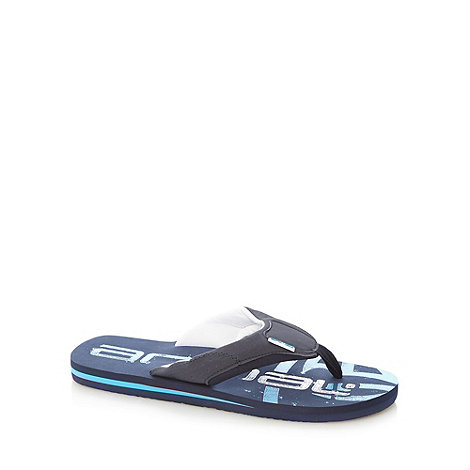 Animal - Navy logo flip flops