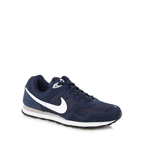 Nike - Navy mid +Runner+ trainers
