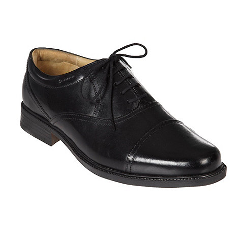 Clarks - Black lace up leather shoes