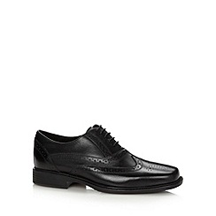 Hush Puppies - Black leather 'Titanium Dual Fit' brogues