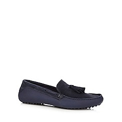 H By Hudson - Navy leather driver shoes