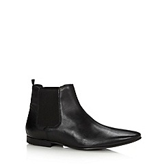 Ben Sherman - Black leather chelsea boots