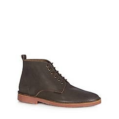 Ben Sherman - Brown leather mid boots