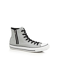Converse - Grey side zip hi-top trainers