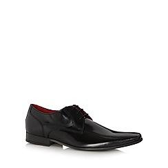 Jeff Banks - Designer black leather lace up shoes