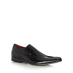 Jeff Banks - Designer black leather slip on shoes
