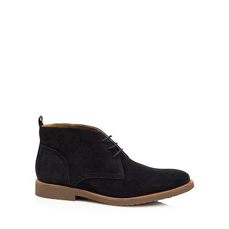 RJR.John Rocha - Designer navy suede leather desert boots