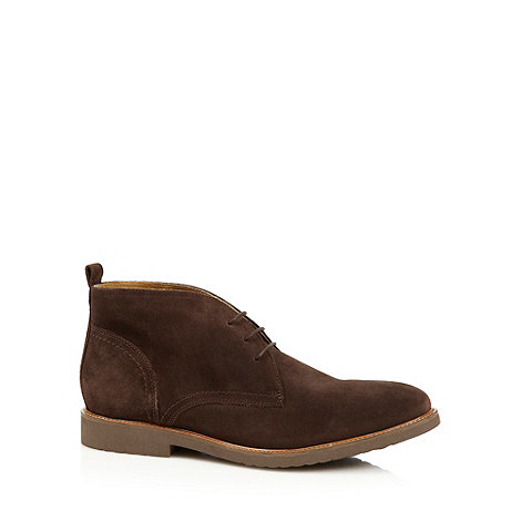 RJR.John Rocha - Designer chocolate suede leather desert boots