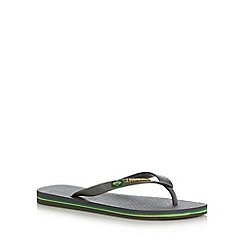 Ipanema - Grey Rio flag flip flops