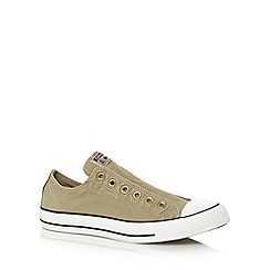 Converse - Olive 'All Star' slip on trainers