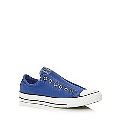 Converse - Blue 'All Star' slip on trainers