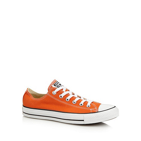Converse - Orange lo-top canvas trainers