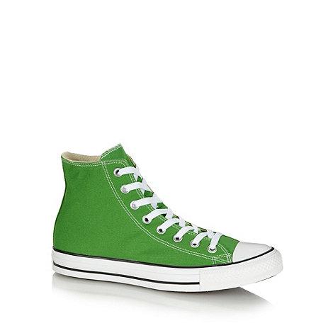 Converse - Green hi-top canvas trainers