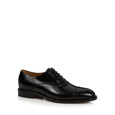 Berwick - Black formal leather toe cap shoes