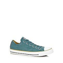 Converse - Green canvas contrast lo-top trainers