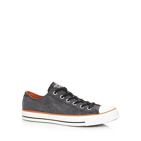 Converse - Black canvas contrast lo-top trainers